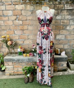 Vestido Longo tapeçaria holandesa Antix (P)