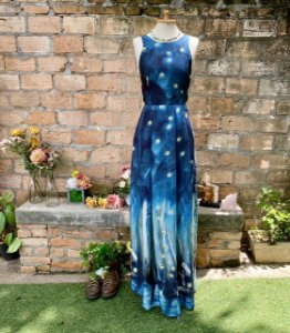 Vestido longo Antix estampa vagalume (P)