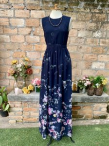 Vestido Antix flores transp. (P)