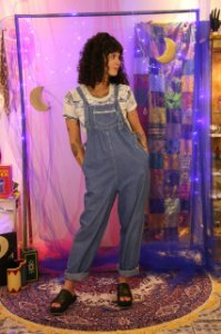 Macacão vintage jeans (M)