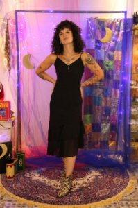 Slip Dress preto (P)