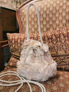 Bolsa saco customizada Vitoriana