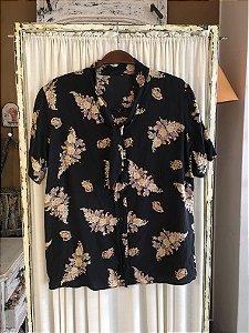 Blusa Vintage florida Botões
