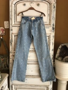Calça jeans bordada Hamuche  (36)