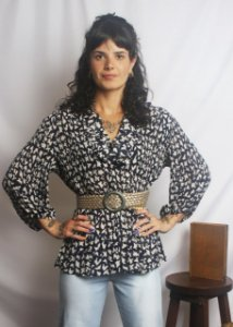 Camisa babados 70's Plissada (XL)