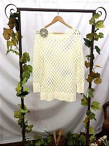 Blusa de Tricot Off White