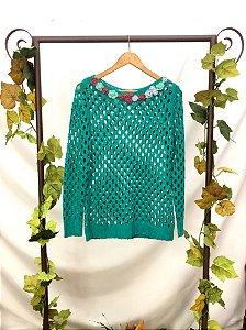 Blusa de Tricot Verde (M)
