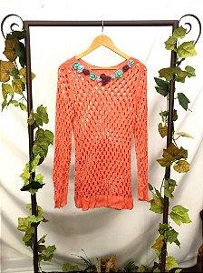 Blusa de Tricot cor Pêssego
