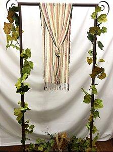 Echarpe bicolor bege
