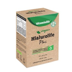 Vegan - Hialurolife Plus (Ácido hialurônico + Vit C + Vit E) - 30 cápsulas