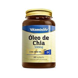 Óleo de Chia 500mg - 60 softgels