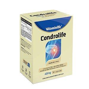 Condrolife 40mg - Colágeno Tipo II - 30 cápsulas