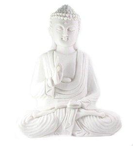Buda meditando em marmorite 32cm - 2 opções de cor