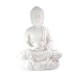 Buda lótus em marmorite 45cm