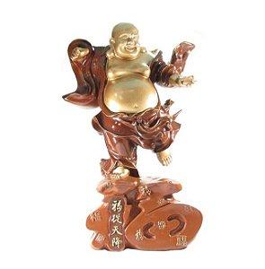 Buda da prosperidade 42cm em resina