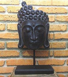 Rosto de Buda com pedestal