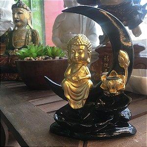 Incensário cascata monge lua