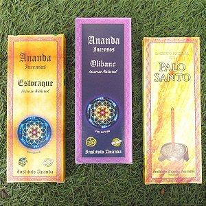 Incenso Ananda especiais - 3 opções de aroma