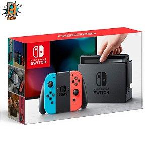 Console Nintendo Switch Neon 32gb Desb + Card 128gb c/ até 35 Jogos a escolha - Nintendo