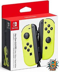 Controle Joy-Con L/R Amarelo Neon - Switch