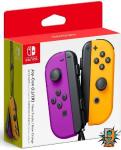 Controle Joy-Con (L-R) Neon Purple/ Neon Orange - Switch