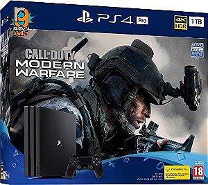 Console PS4 1TB Pro Bundle COD Modern Warfare CUH7215B - Sony