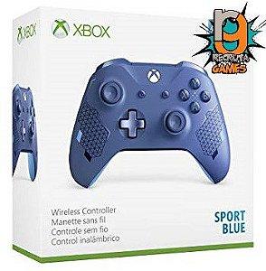 Controle Sem fio Xbox One Newest Sports Blue - Microsoft