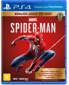 Game Marvel's Spider Man Edicão do ano - PS4