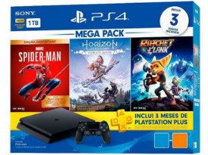 Console PS4 1TB Megapack Family Bundle CUH2215B - Sony