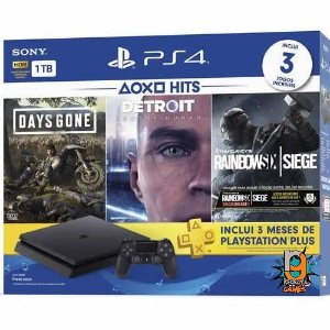 Console PS4 1TB Slim Bundle Bundle Hits CUH2215B - Sony