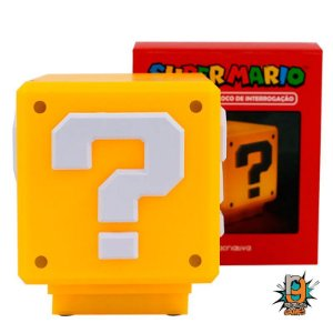 Luminaria Super Mario Bros Mini Question BLOCK LIGHT - OFICIAL