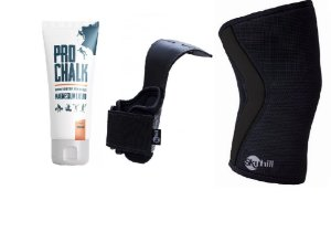 Combo IRC: Magnésio líquido PRO CHALK 250g + Hand Grip Power Skyhill + Joelheira para Crossfit 5mm*FRETE PROMOCIONAL*
