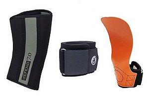 Kit Crossfit IRC Competition: Joelheira 7mm + Hand Grip Competition + Munhequeira Ajustável*FRETE PROMOCIONAL*