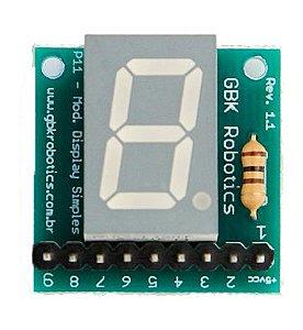 P11 - Módulo Display 7 Segmentos Positivo Comum - GBK