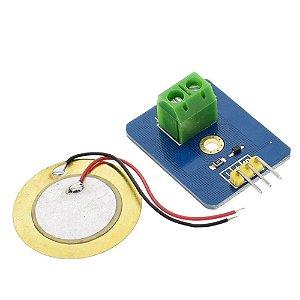 Módulo Sensor de Toque e Vibração Piezoelétrico