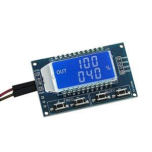 Gerador de Sinal PWM com Display LCD com Frenquência Ajustável - 1Hz-150Khz