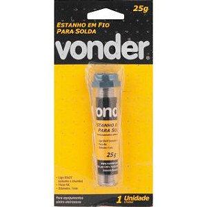 Estanho em fio 1,0 mm 25 g - Vonder