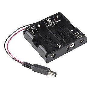 Suporte para 4 Pilhas AA com plug P4