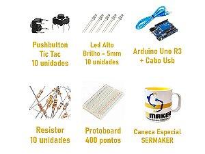 Kit Prototipagem Iniciante + Caneca SerMaker