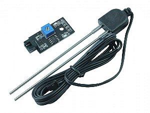 Sensor Umidade do Solo Com Sonda Resistente a Corrosão
