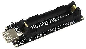 Shield Bateria 1x 18650 V8 Para ESP Arduino