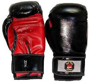 Luvas Boxe/Muay Thai Preta E Vermelha Nakmuaynavarros
