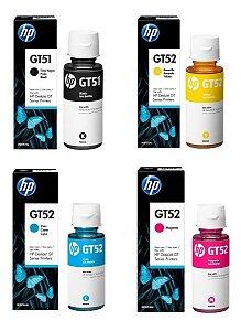 Kit Refil 4 Cores Tinta Hp Gt 51 Gt 52 - Gt5822