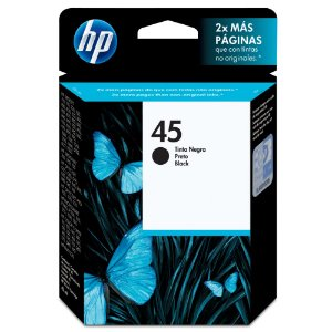 Cartucho De Tinta Hp 45 Preto 42ml Original 51645al