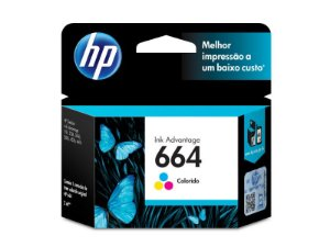 CARTUCHO DE TINTA INK ADVANTAGE HP 664 COLOR