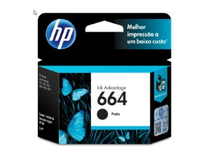 CARTUCHO DE TINTA INK ADVANTAGE HP 664 PRETO