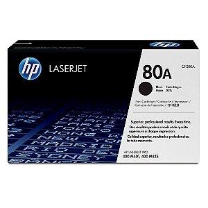 Toner Hp 80a Laser Preto, Para Impressoras M401 / M425 - Cf280a