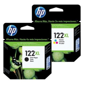 Kit Cartucho Hp Original 122 Xl Preto + Hp 122xl Color