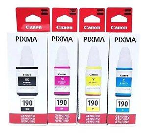 Kit 4 Cores Refil Canon G-190 G1100 G3110 G4110 G4125
