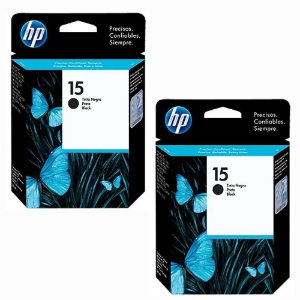 kit 2 cartuchos hp  15 Black C6615d HP  820CXI Preto